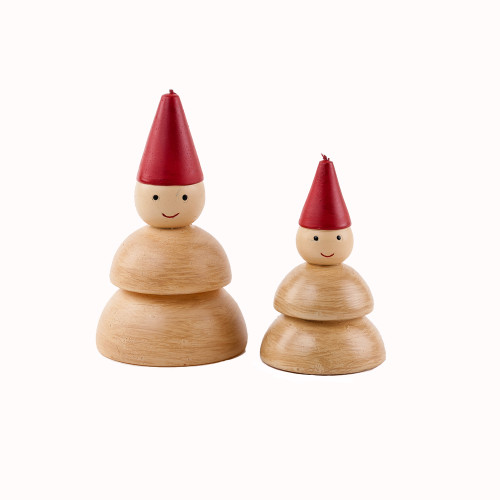 """Snowman Candles - 4"""" and 6"""" - Set of 2 (NE0299)"""