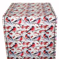 Linen Table Runner - Domherre Birds - 16 inch x 48 inch (TR1-48)