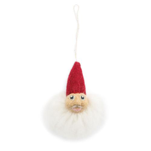 """Pixie Santa Felt Ornament - 3.5"""" - En Gry & Sif (5416)"""