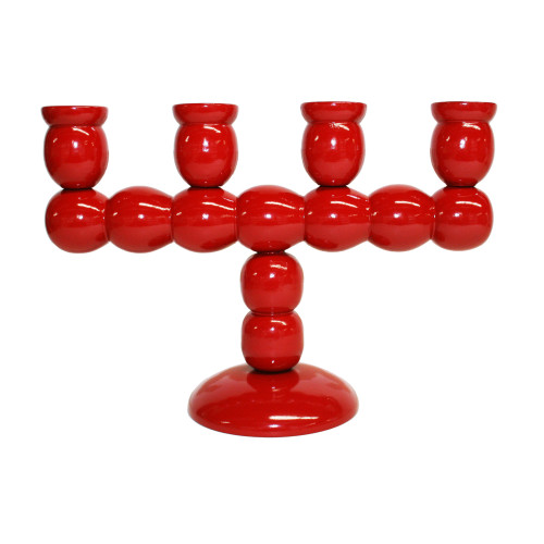 """Swedish Candle Holder - Red - 10""""W x 7""""H (SW429)"""
