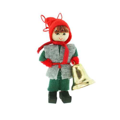 "Butticki Tomte Boy w/Bell Ornament - 3"" (13157)"
