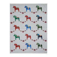 Dala Horse Kitchen Towel - White (85226)