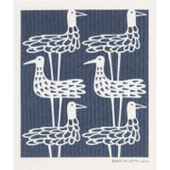Swedish Dishcloth - Shore Birds Blue (600371)