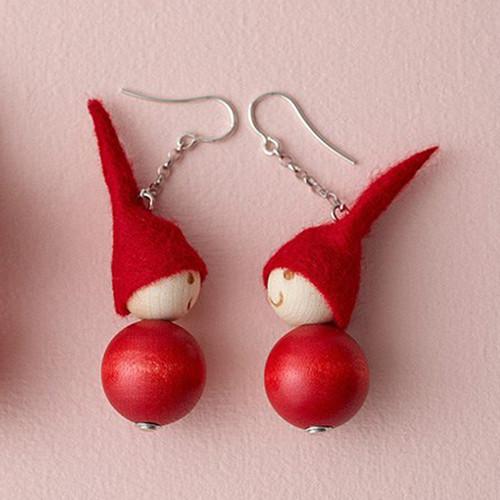 Tonttu Christmas Elf Earrings (A6294)