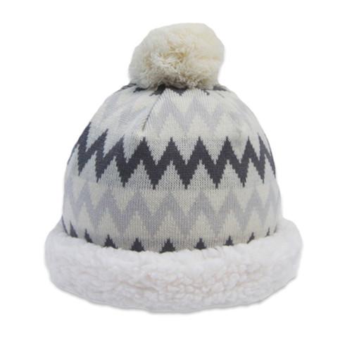 Chevron Grey Knit Hat - Unisex Size (CH-GR-H)