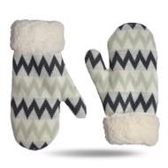 Chevron Grey Gloves/Mittens (CH-GR-GL)