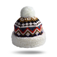 Nordic White Knit Hat - Unisex Size (NOR-WHT-H)