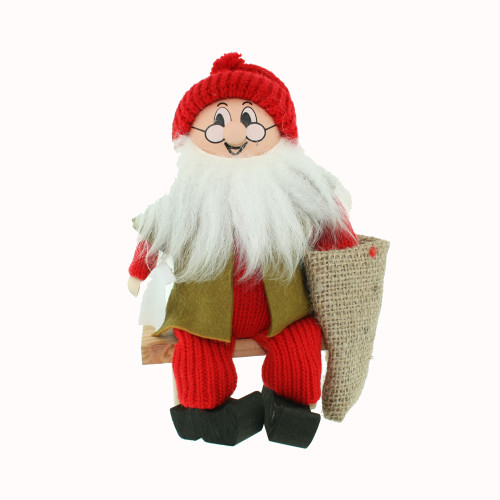 """Tomte w/Sack on Bench - 7"""" (21709)"""