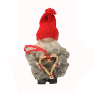 """Tomte Santa with Straw Heart - 5"""" (17284)"""