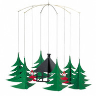 Pixies In Christmas Forest Mobile - Flensted (086)