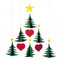 Christmas Tree Mobile - Flensted (F091)
