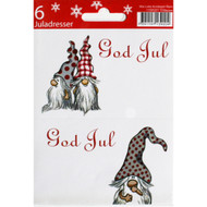God Jul Gift labels - Nordic Gnome - 6-pack (11595201A)