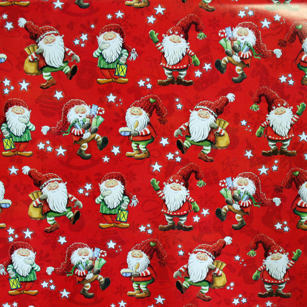 Christmas Wrapping Paper - Santa Hampus   ScandinavianShoppe