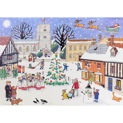 "Advent Calendar - Christmas in the Village - 6"" x 8"" (ACC1)"