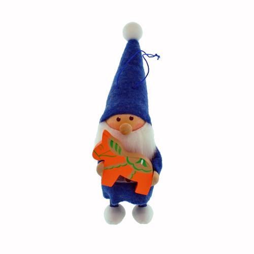 "Tomte Blue Santa with Dalahorse - 5"" (26306)"