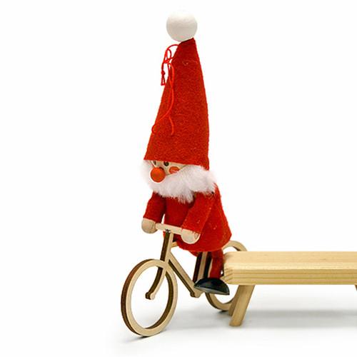 "Tomte-Santa on Bike - 6"" (26302)"