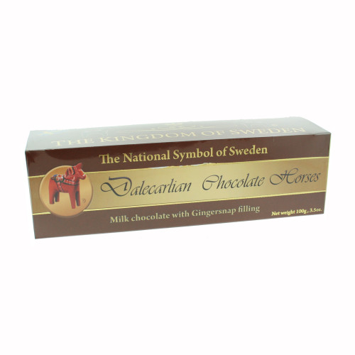 Chocolate Dala Horse Truffles with Gingersnap Filling (24511)