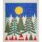 Swedish Dishcloth - Birds in Pines (219.50