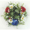 "Candle Ring/Pillar Wreath - Daisy Poppy Corn Flower - 5"" (E138-RBW"