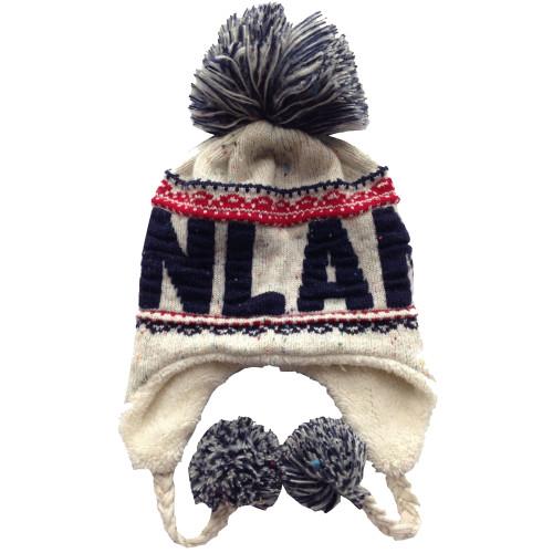 Finland Knit Hat - Blue/White - Unisex Size (F14D)