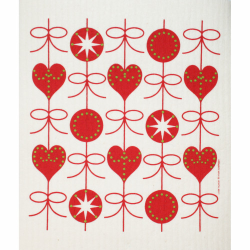 Swedish Dishcloth - Hearts & Bows (219.30)