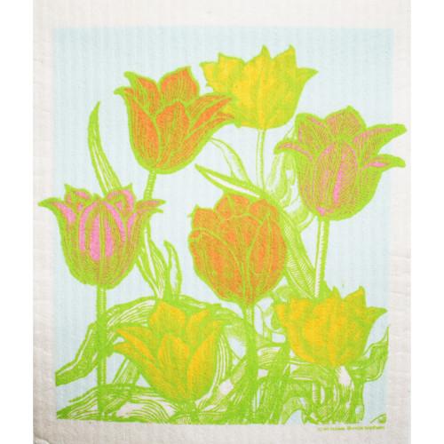 Swedish Dishcloth - Botanical Tulip Garden (219.61)