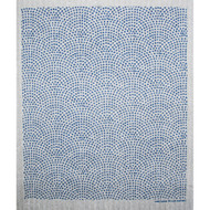 Swedish Dishcloth - Circle Dots Blue (219.67B