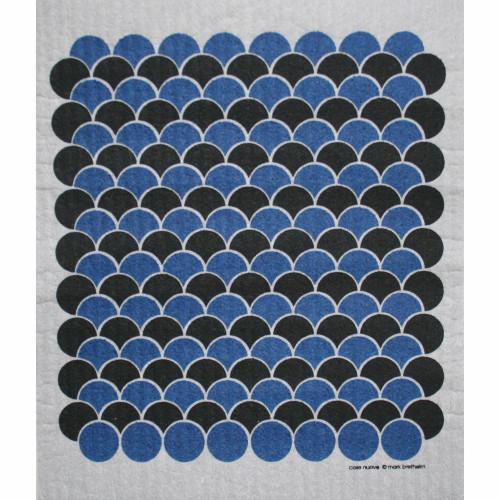 Swedish Dishcloth - Scallops Blue/Black (219.68B
