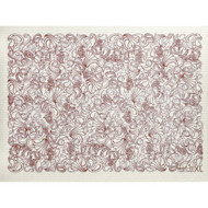 Swedish Drying Mat - Paisley Red (70085)