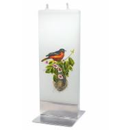 Handmade Flat Candle - Robin (D18048