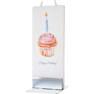 Handmade Flat Candle - Happy Birthday Cupcake (D1748)