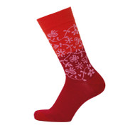 Bengt & Lotta Socks - Garden - Red - merino wool/cotton blend (712703)