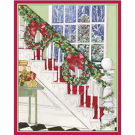 Caspari Boxed Christmas Cards - Christmas Staircase - 16 In (86015)