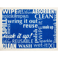 Swedish Drying Mat - Word Art - Blue (70088)