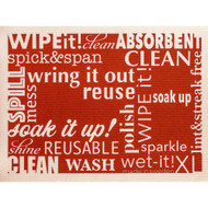 Swedish Drying Mat - Word Art - Red (70089)