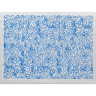 Swedish Drying Mat - Paisley Blue (70086)