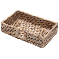 Rattan Guest Towel Napkin Holder - White Natural