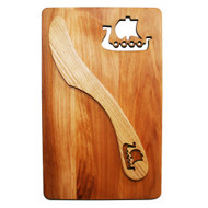 "Cutting Board and Spreader Set - Viking Ship - 7 1/2"" x 4 3/4"" (69-10V)"