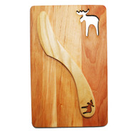 "Cutting Board and Spreader Set - Moose - 7 1/2"" x 4 3/4"" (69-10M)"