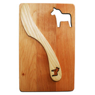 "Cutting Board and Spreader Set - Dalahorse - 7 1/2"" x 4 3/4"" (69-10D)"