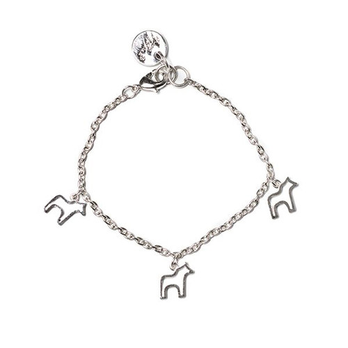 Dala Horse Bracelet - Silver (62958)