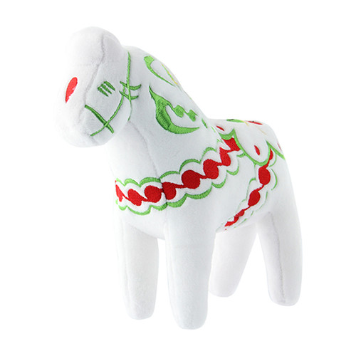 Dala Horse Stuffed Animal - Plush Toy - White (42538)