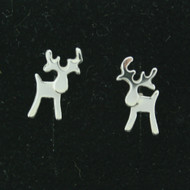 "Silver Earrings - Reindeer - 1/4"" Post (101-22)"