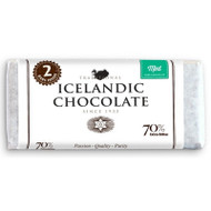 Icelandic Dark Chocolate Mint Bar 70% - 2 Pack (25110)