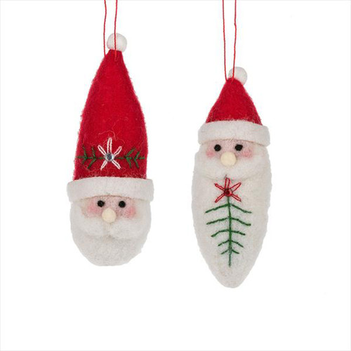 Tomte Santa Felt Ornaments - Set of 2 (156494)