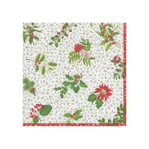 English Winter Garden Paper Cocktail Napkins - 20 PK (14820C)
