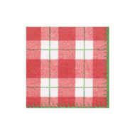 Plaid Check Paper Cocktail Napkins - 20 PK (14800CG)