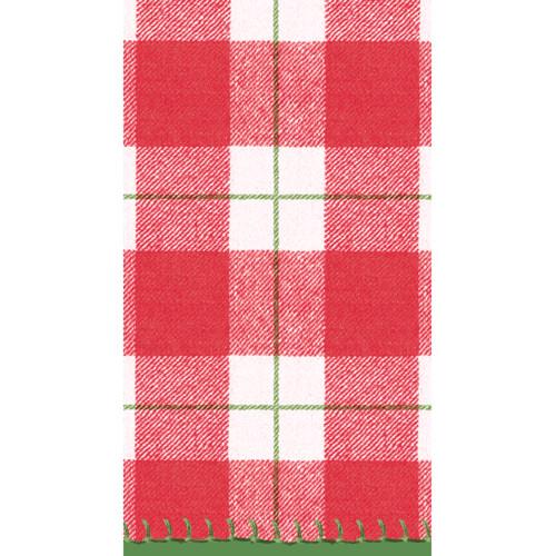 Plaid Check Paper Guest Towel Napkins - 15 PK (14800GG)