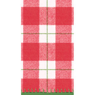 Plaid Check Paper Guest Towel Napkins - 15 PK (14800GG)