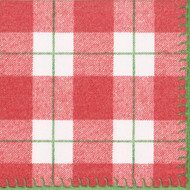 Plaid Check Paper Luncheon Napkins - 20 PK (14800LG)